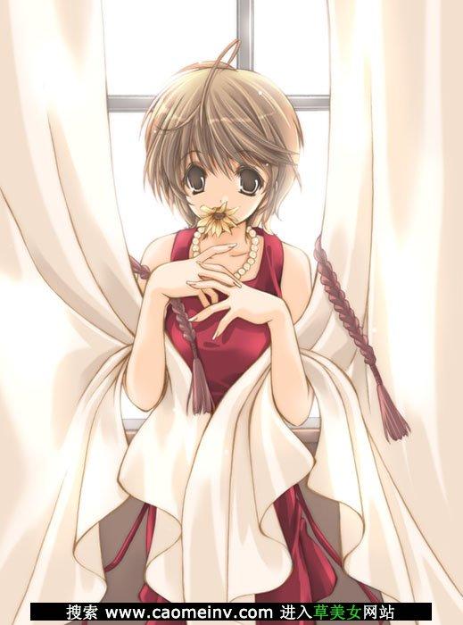 日本动漫女生清纯好看图片