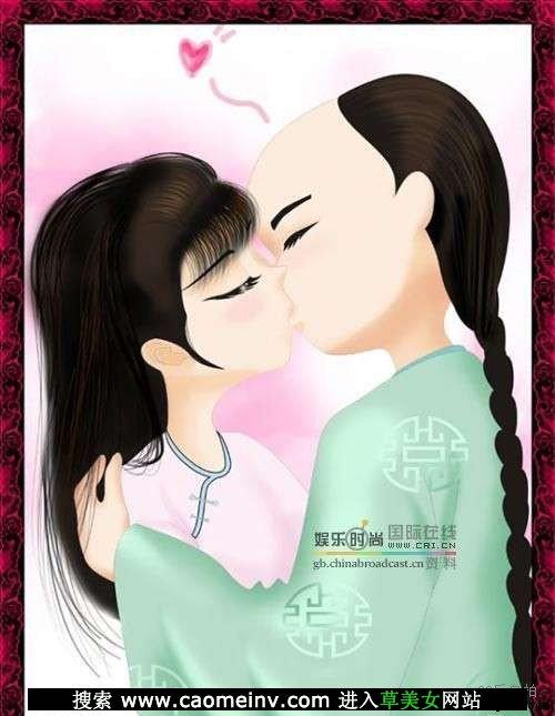 卡通版的白蛇传白娘子和许仙幸福图片