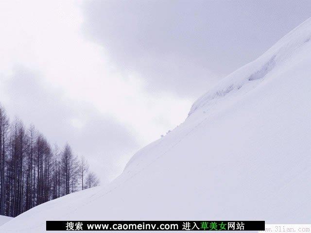 非主流雪景图片