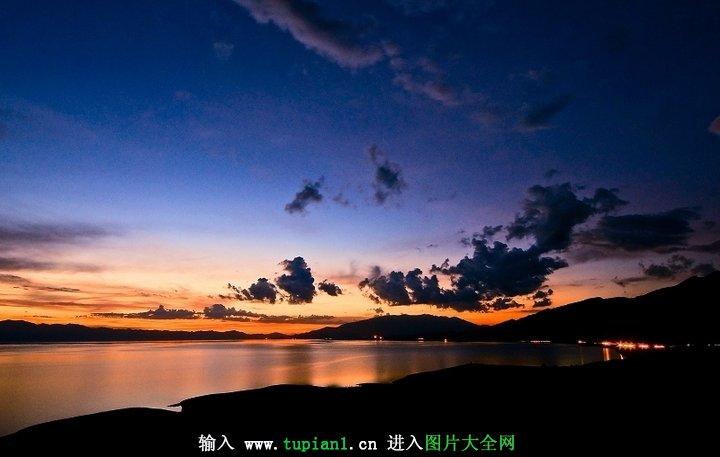 动态风景优美的地方_立足江边看日落夕阳美景_风景图片_TuPian1