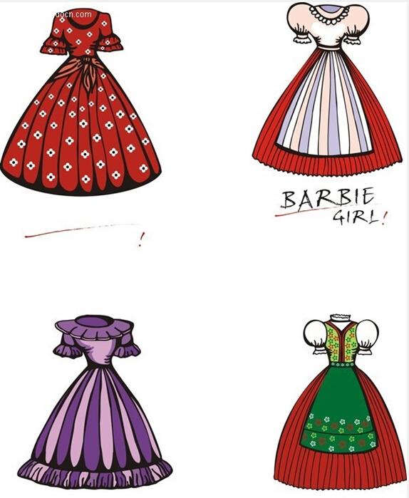 漂亮的芭比公主简笔画