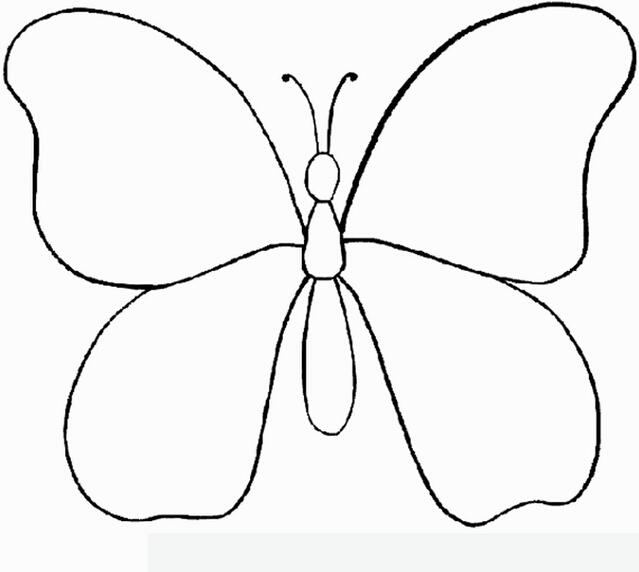 蝴蝶节简笔画图片大全