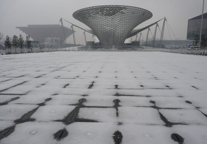 上海世博园雪景图片
